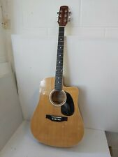 More details for johnny brook full size electro acoustic guitar e1t