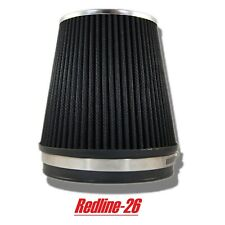 """Black Universal Cone Truck Cold Air Filter Replacement (6"""" / 152 mm) Inlet"""