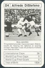 BOBBY CHARLTON'S WORLD CUP ACES-1977-78-D4-REAL MADRID-ALFREDO DI STEFANO