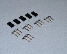 Logic rc futaba / spektrum Servo plug socket set with gold pins 5pc raccourcir plomb