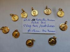 PROMO lot de 10 medailles dorée Sainte Vierge Marie + anneaux  VIRGO MARY MEDALS