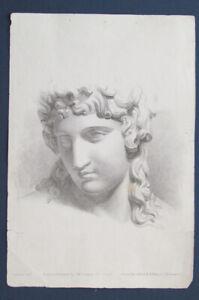 Circa: 1850 Original Antique Historic Anatomy Lithograph Print Female Portrait