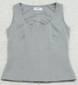 Tank Top Tee T-Shirt Sleeveless Crewneck Table Eight Twelve 12 Polyester Lined