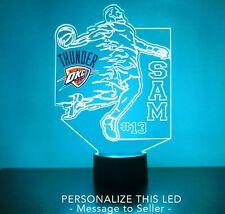 OKC Thunder LED Night Light Personalized FREE NBA Basketball Light Up LED