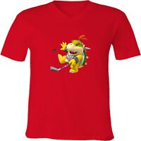 Nintendo Mario Bowser Jr. Golf Unisex Men Women V-Neck Sport Video Game T-Shirt