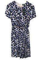 Ralph Lauren BNWT Pretty Blue Floral Side Knot Jersey Dress Size 2 (uk8)