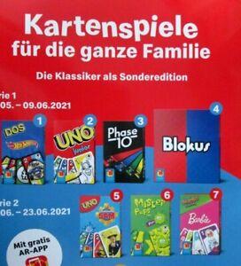 """McDonalds  Spielzeug 2021 """" Kartenspiele für die ganze Familie """"- 7 Spielzeuge."""