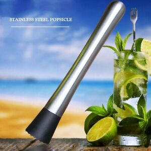 Stainless Steel Cocktail Muddler  and Mixing Spoon Home Bar Tool Set