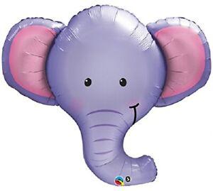 "XL 39"" Ellie The Elephant Super Shape Mylar Foil Balloon Party Decoration"