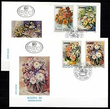 Yugoslavia - 1993 Flowers - Mi. 2614-17 on clean FDC's