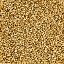 Miyuki Delica Size 11/0 Seed Beads Duracoat Galvanized Gold 7.2g (J96/12)
