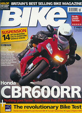 BIKE Oct 2003 Cagiva V-Raptor CB900F Ducati M800  Triumph Speed Four VTX1800