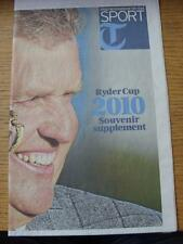 06/10/2010 GOLF: RYDER CUP 2010 Souvenir supplemento, il Daily Telegraph (piegato