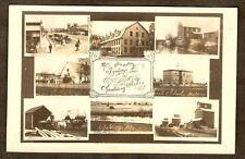 RPPC Nebraska SPALDING 8 Town Views STANDARD OIL More 1910 Real Photo Postcard