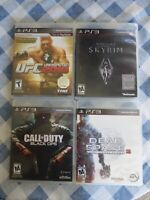 PS3 Game Lot Bundle Skyrim Dead Space UFC Call Of Duty Black Ops  Playstation