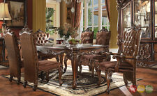 "Versailles 9 Piece Formal Dining Room Set Cherry Oak 71"" Table w/ China Cabinet"