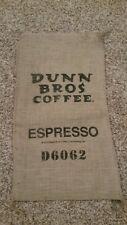 Burlap Coffee Bag Dunn Bros Espresso Gunny Sack Coffee House Decor