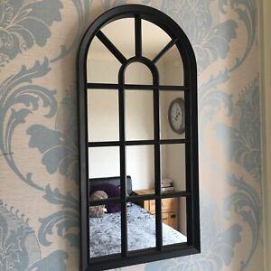 BLACK ENCHANTED WINDOW STYLE WALL MIRROR GIRLS ROOM HALLWAY ARCH WINDOW MIRROR