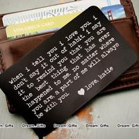 STOCKING FILLER Men Gifts for Husband Love Keepsake Token Boyfriend Groom Son W1