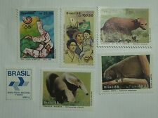Brazil Stamp  2138-43 MNH Cat $6.85 Animal, Olympic, Flag Topicals