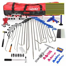 82× PDR Hail Removal Dent Puller Rods Kit Paintless Repair Hammer & Wedge Tools