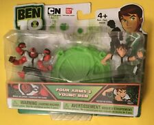 "YOUNG BEN TENNYSON 10 Omniverse FOUR ARMS mini 2"" figures Bandai set 2011 NEW"