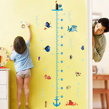 Cartoon fishes finding nemo height kids room decor PVC Wall sticker wall decals