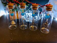 Christmas tree decorations, Glass bottle ornament, Bottle decoration, Hand made