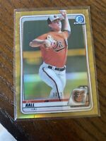 2020 Bowman Chrome D.L. Hall Gold Prospect Parallel #/50 Baltimore Orioles