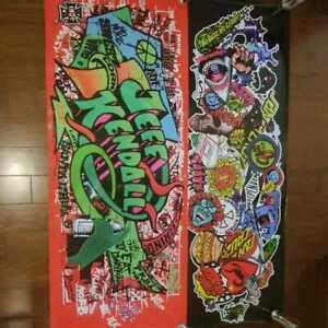 Santa Cruz Skateboards Flag Banner Screaming Hand 2 Type 80s 90s Set Mint