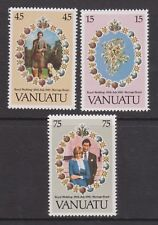 1981 Royal Wedding Charles & Diana MNH Stamp Set Vanuatu SG 315-317