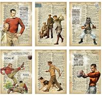 Vintage Mens Sports Glossy Finish Card Topper - Crafts Embellishment