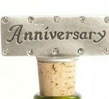 Anniversary Cork Wine Bottle Stop Solid Pewter Bottle Decoration