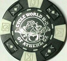 Harley Poker Chip    CYCLE WORLD HD    ATHENS, GA     BLACK    Bulldog