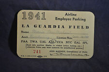 1941 American Airline Parking Pass at La Guardia Airport New York