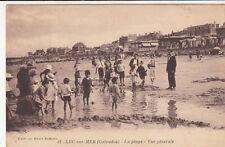 LUC-SUR-MER 12 la plage vue générale timbrée 1927