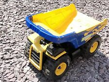 Vintage Steal Tonka Yellow Truck Collectible Blue Flames