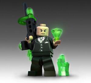 NEW! LEGO DC Super Heroes LEX LUTHOR Minifigure w/Kryptonite Deconstructor Gun !