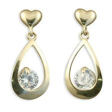 Butterfly Cubic Zirconia Drop/Dangle Fine Earrings