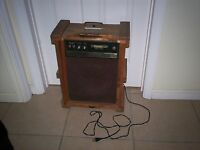 Vintage Genuine Wood Amplifier Solid State