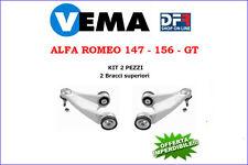 2 BRACCI SOSPENSIONE ANTERIORI SUPERIORI VEMA ALFA ROMEO 147 - 156 - GT