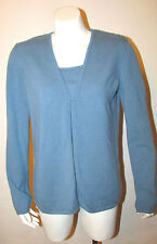 Genny Pure Cashmere Twinset Cardigan Camisole Tank Top Sweater Set sz 42 IT 8 US