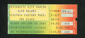 1982 The Clash Burning Spear concert ticket stub Ice Arena PA Combat Rock