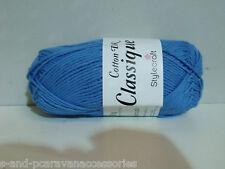 Stylecraft Classique Cotton Double Knit 50g Ball Greek Blue Shade 3095