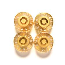 4PCS Genuine Epiphone Casino Gold Speed Knob Metal Cap Volume Tone Control TB