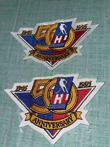 2 New Original IHL 1995 Anniversary Throwback Hockey Jersey Patch Crest 1945