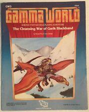 TSR Gamma World Cleansing War Of Garik Blackhand GW3 Role Playing Game Book 7504