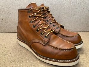 Red Wing Heritage 875 Oro Legacy Moc Men Leather Boots Sz USA 7.5 D | UK 6.5
