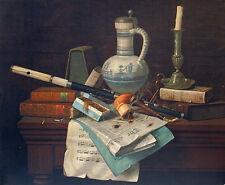 SpRINgSALE..New York Chromolithograph WILLIAM MICHAEL HARNETT 'Emblems of Peace'