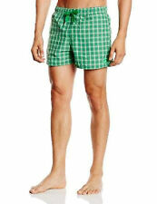 Adidas men's check grey/green swimming short size S